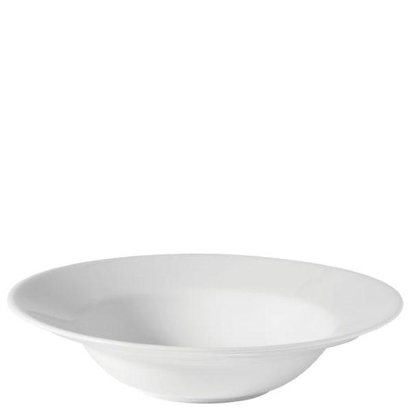 White china pasta bowl