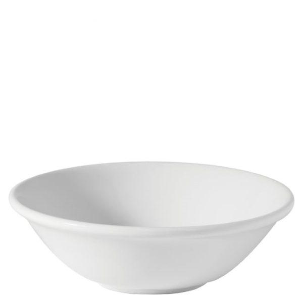 White china dessert bowl