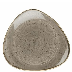 Grey triangular plate 12 inch