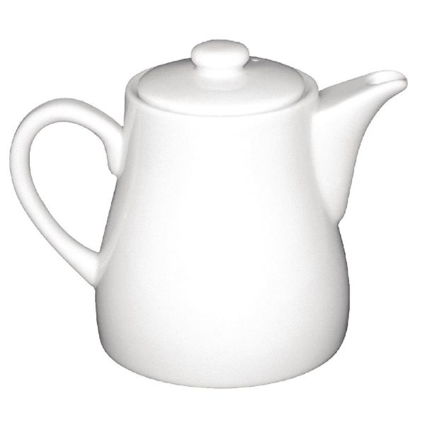 White china tea pot