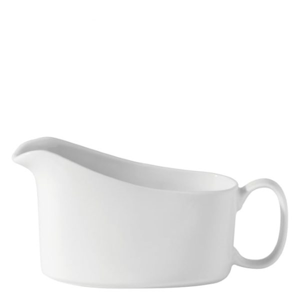 Small white china gravy boat