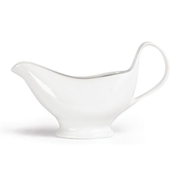 White china gravy boat