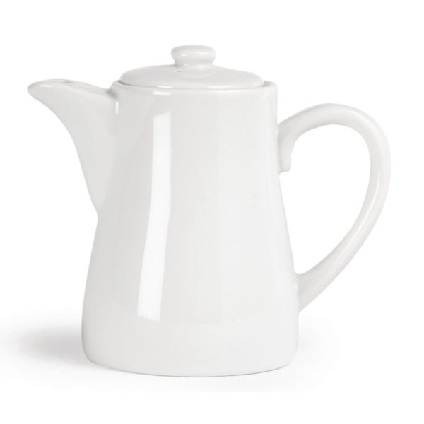 White china coffee pot