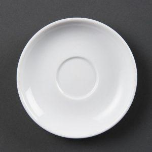 White china espresso saucer