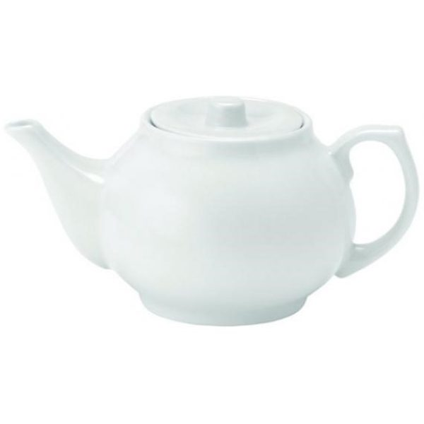 Large white china tea pot