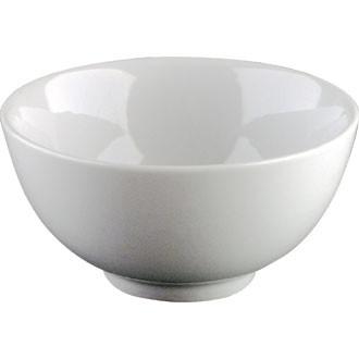 White china rice bowl