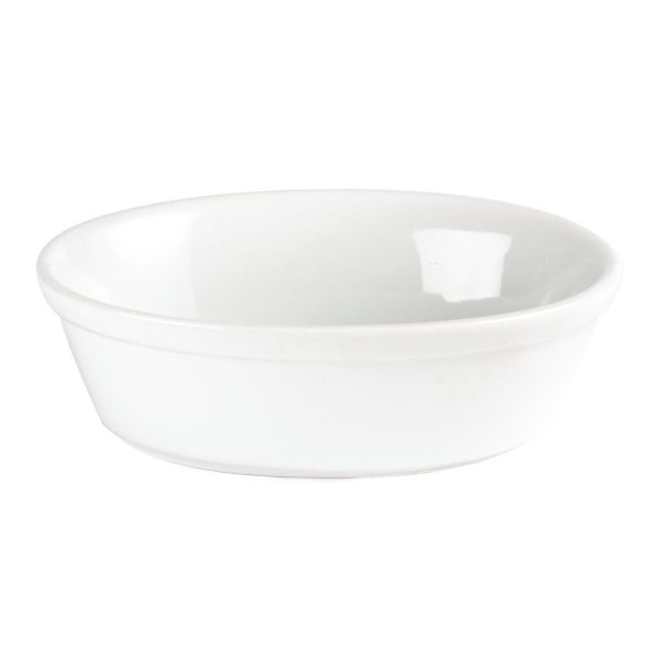 White china small individual portion pie dish