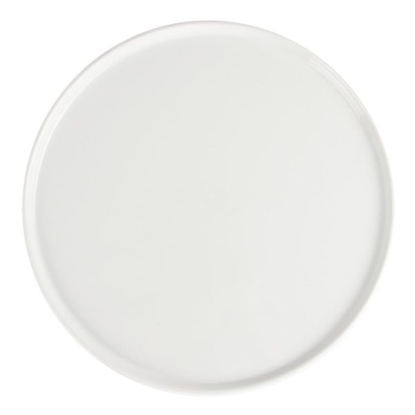 White china pizza/torte plate 13 inch