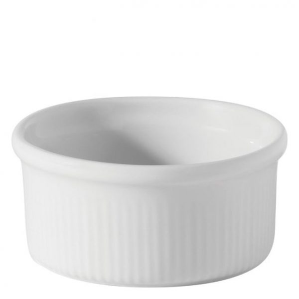 White china fluted ramekin