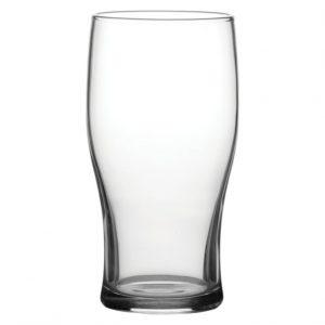 Tulip pint beer glass
