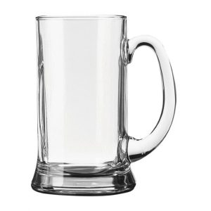 Glass handled beer tankard