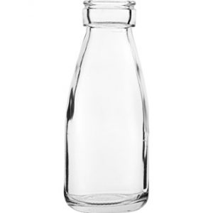 Small glass bottle vase/Cocktail bottle