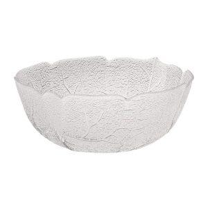 Aspen leaf design glass serving bowl