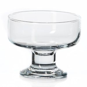 Glass sundae dish