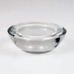 Round Clear Glass Tea Light Holder