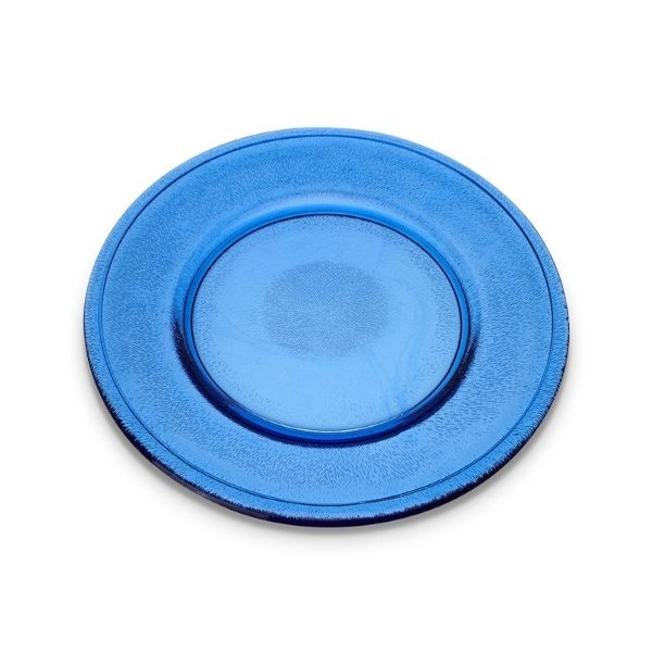 Cobalt Blue Glass Charger/Serving plate