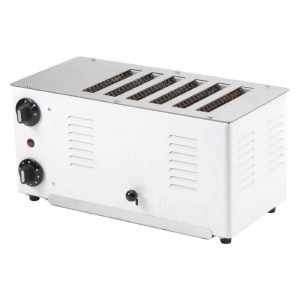 Stainless steel 6 slice toaster