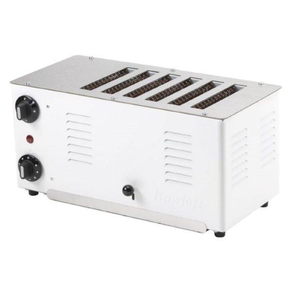 Stainless steel 6 slice toaster
