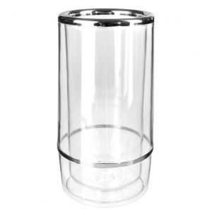Clear acrylic wine bottle cooler