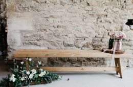 6ft long rustic bench