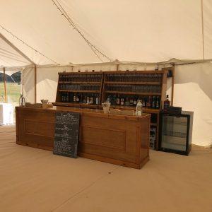 Dark wood bar