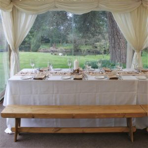 Handmade 6ft rustic wooden benches