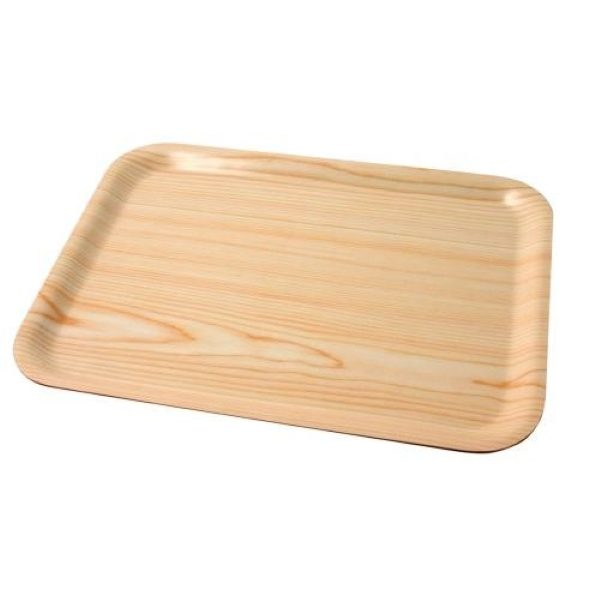 Rectangular birch cafeteria tray