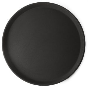 Round black anti slip bar tray