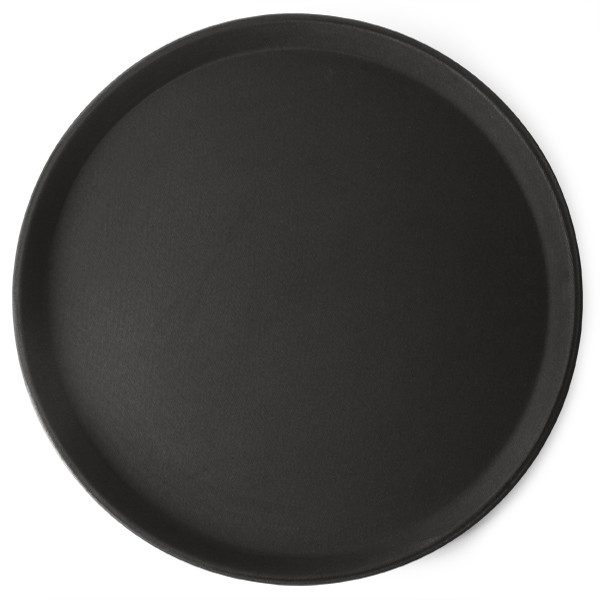 Round black anti slip bar tray