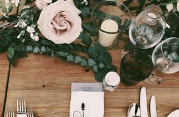 Rustic wedding with Verdi cutlery and white linen