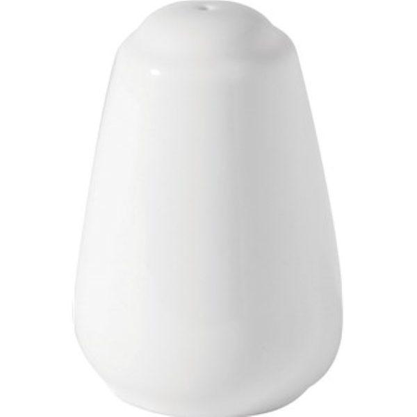 White china salt pot