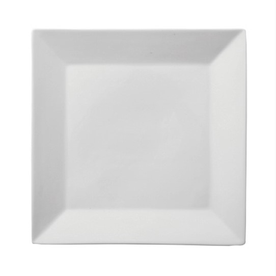 White China Square Starter/Dinner plate