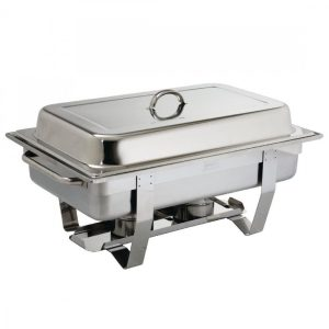 Stainless steel chafing dish with burners