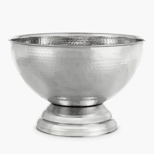 Hammered metal champagne bowl