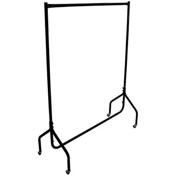 Black coat rail
