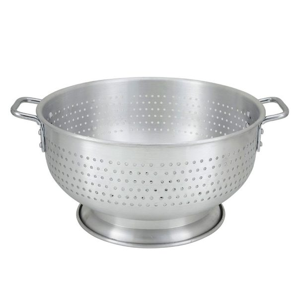 Large catering metal colander