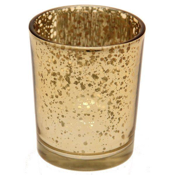 Mercury gold votive tea light holder