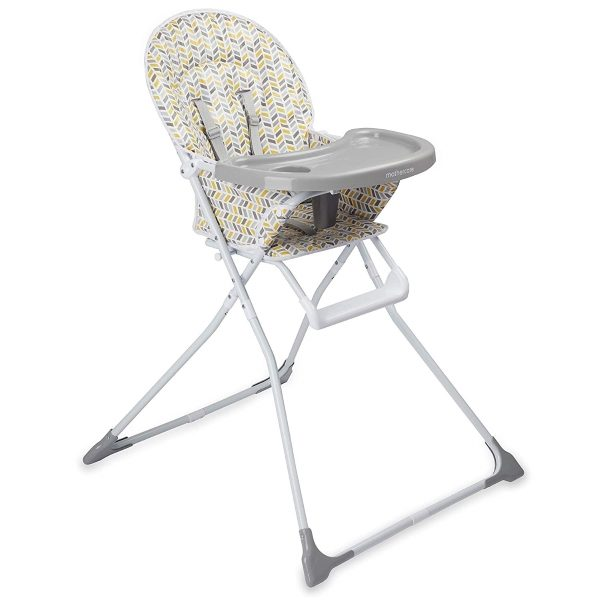 Grey patterned high chair