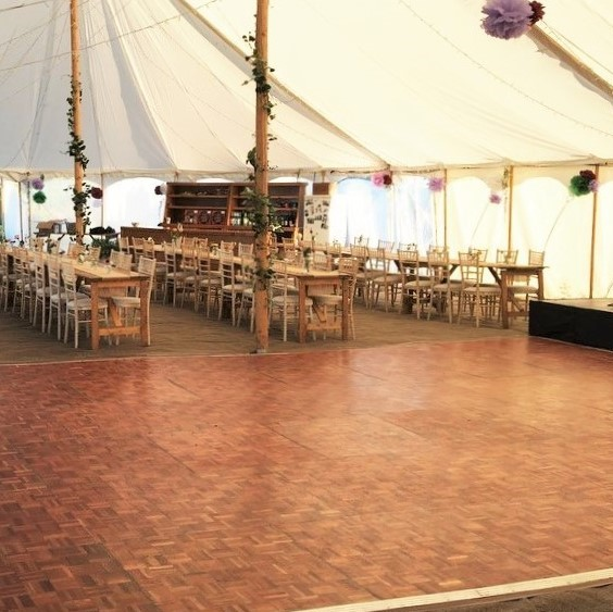 Wooden Parquet Dance Floor Hire