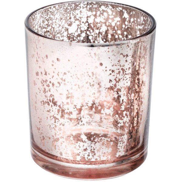 Mercury pink rose gold votive tea light holder