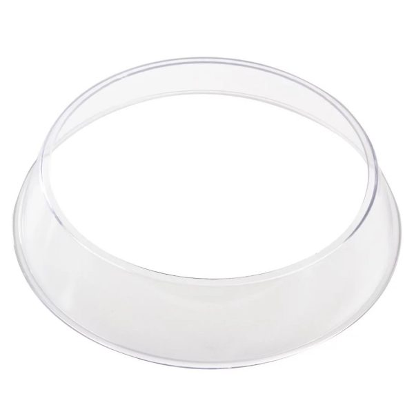 Plastic plate stacking ring