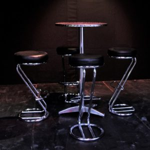 High aluminium cafe/bar tables
