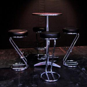 High aluminium cafe/bar tables