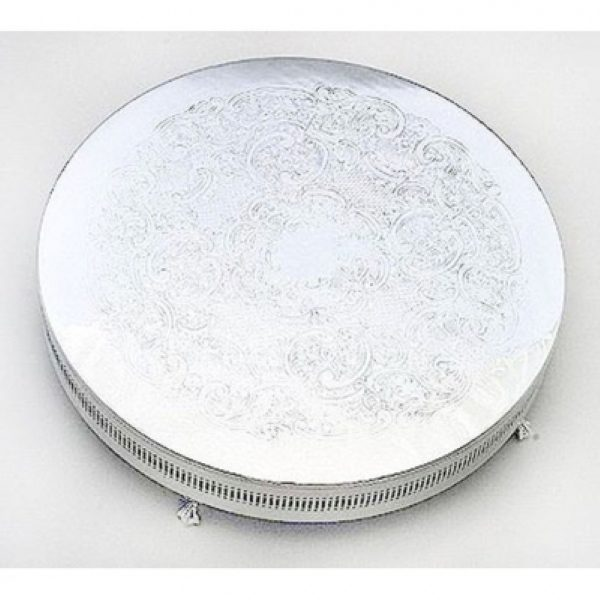 EPNS silver round cake stand