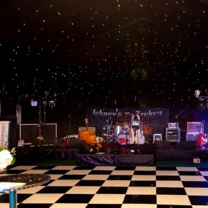 Black stage hire