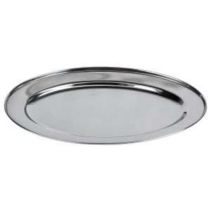 Stainless steel oval serving platter