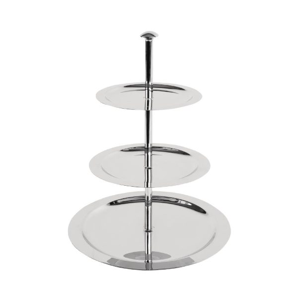 Three tier metal cake stand