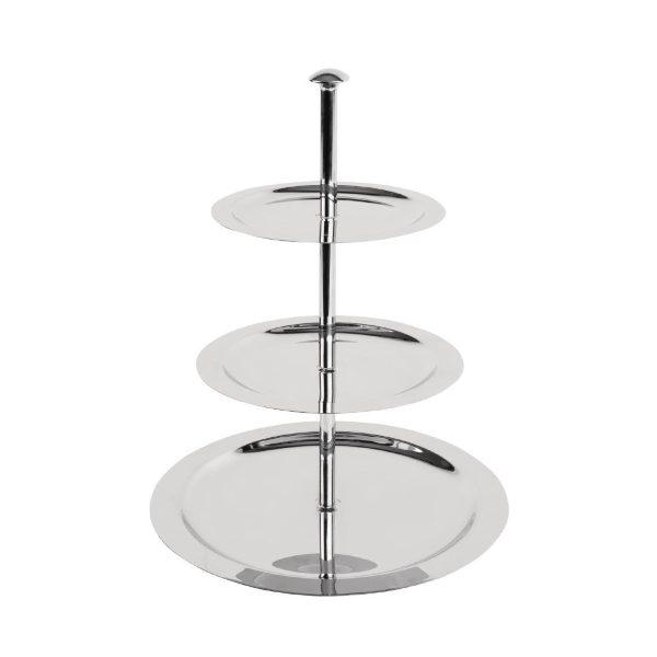Three tier metal cake stand