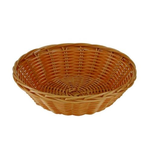 Round polypropylene wicker bread basket
