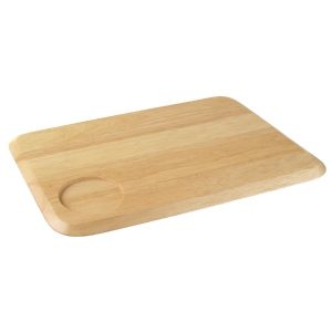 Rectangular hevea wooden serving board